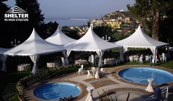 High peak Gazebo canopy - wedding reception - destination wedding - hotel wedding ceremony - Shelter aluminum structures for slae (2)