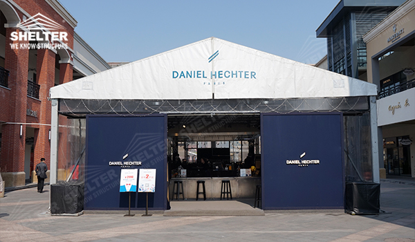 tent store - business tent - marquee for large scale exhibitions - tent canopy for expositions & 10*10m Tent Store - Fabric Structure for Temporary Showroom Space