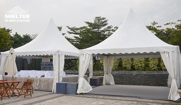 Gazebo buffet Tent - pagoda canopy - flat top high peak tents - square marquees - : outdoor tents for parties - memphite.com