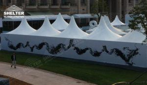 Canopy Tent - pagoda canopy - flat top high peak tents - square marquees - canopy for hotel wedding - pavilion for pool side party - Shelter aluminum structures for sale (10)