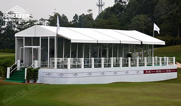 Aluminum Marquee To Be Temporary Lounge House For Sports Tour