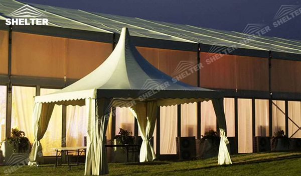 pagoda canopy - flat top high peak tents - square marquees - canopy for hotel wedding - pavilion for pool side party - Shelter aluminum structures for sale (43)