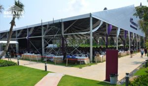 banquet tent - pool side party - wedding marquee - pavilion for luxury wedding ceremony - canopy for outdoor party - wedding on seaside - in hotel - Shelter aluminum structures for sale (000017)
