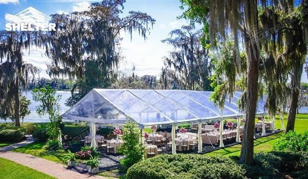 transparent tent - wedding marquee - pavilion for luxury wedding ceremony - canopy for outdoor party - wedding on seaside - in hotel - Shelter aluminum structures for sale (236)