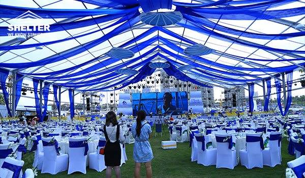 party tents for sale - wedding marquee - pavilion for luxury wedding ceremony - canopy for outdoor party - wedding on seaside - in hotel - Shelter aluminum structures for sale (8115)_Jc
