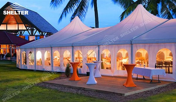 Party Tent - mixed party tents - multi shapes marquee - bellend canvas - large wedding marquees - 6 side bellend tent - 8 side bellend tents - 12 side bellend marquees - Shelter aluminum structures for sale (19)