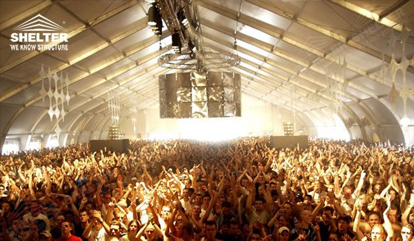 Large Event Structure Tfs Tent For Music Festival