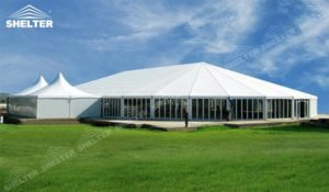 Bellend Tent - large marquee - mixed party tents - multi shapes marquee - bellend canvas - large wedding marquees - 6 side bellend tent - 8 side bellend tents - 12 side bellend marquees - Shelter aluminum structures for sale (21)