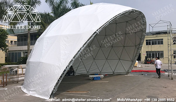 Geodesic Dome - half dome tent - dome stage - stage dome tents - Amphitheater dome & Diameter 30m Geodesic Dome Tent for Concert - Spherical Stage Domes