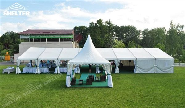 & 32ft x 78ft Clear Tent holding 180-200 people for Hotel Wedding