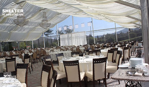 Clear Tent - wedding marquee - pavilion for luxury wedding ceremony - canopy for outdoor party - wedding on seaside - in hotel - Shelter aluminum structures for sale (296)