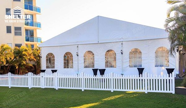 small wedding marquee with french windows amp cassette floor