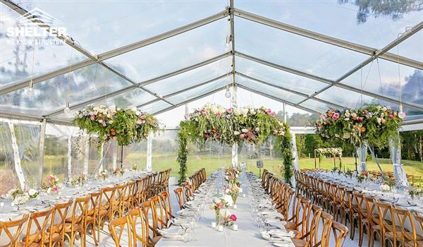 Clear Top - SHELTER High Peak Marquee - Top Tent - Wedding Gazebo - Party Canopies & Clear Top Wedding Marquee With High Peak For Sale In Ohio