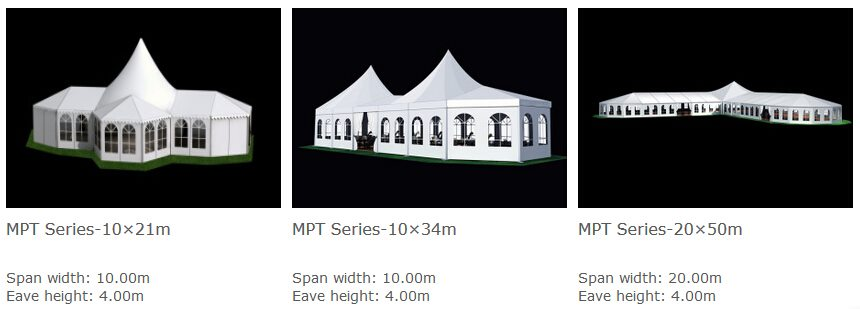 mixed party tents - multi shapes marquee - bellend tent canopy (1)