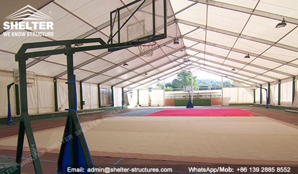 Sports tent- sports-structures-indoor-swimming-pool-court-shed & Clear Span Sports Tent to Cover Baksketball Court - Indoor Sports ...