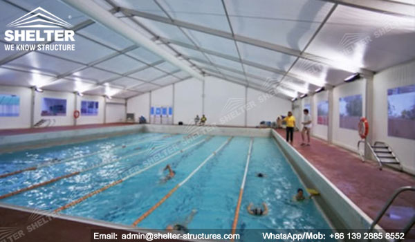 Clear Span Tent For Pool Enclosures Stainless Aluminum Canopy