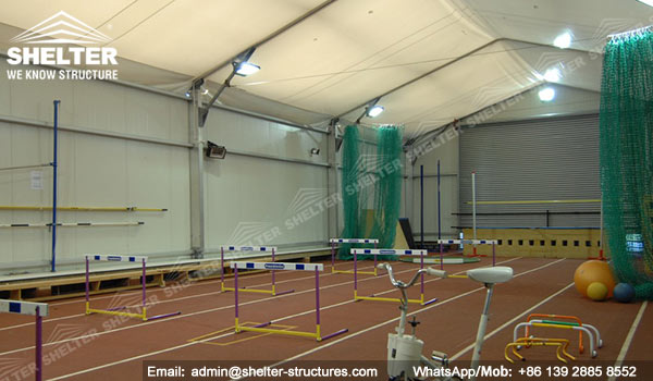 Aluminum training shed fabric structure clear span for Indoor sport court cost