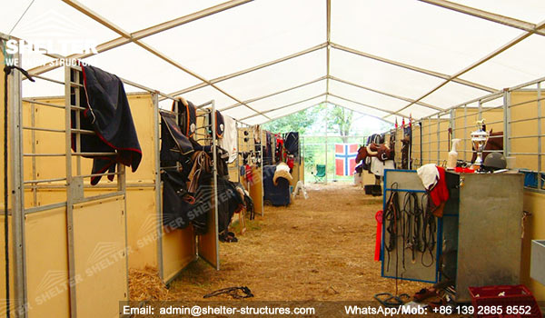 horse stable tent - sports-structures-indoor-swimming-pool-court- & Metal Horse Barn - Aluminum Tent Stables - Clear Span Structure ...