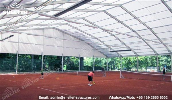 Outdoor coverall building modular tent solutions to for Indoor sport court cost