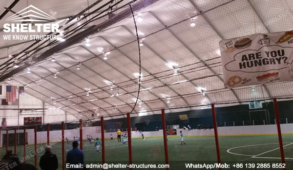 temporary sports buildings - Shelter TFS 35x60m Sport tent Football court cover sport hall (10)