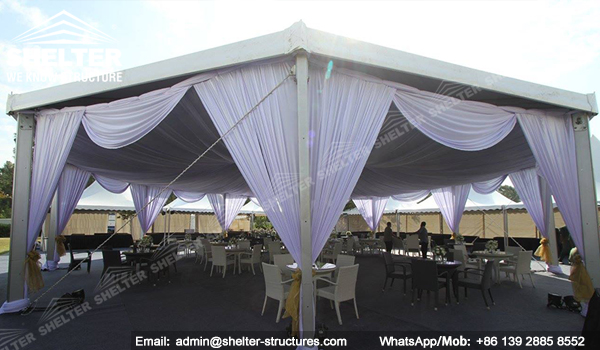 pyramid tent marquee - hexagon tent - octagon tent from chinese manufacturer - shelter multi-side tent India event tent (2)