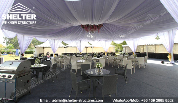 pyramid tent marquee - hexagon tent - octagon tent from chinese manufacturer - shelter multi-side tent India event tent (3)