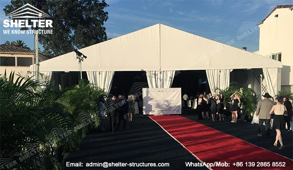 temporary banquet hall - 20 x 45m fundraising event tent - outdoor party marquee for sale 22