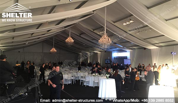 temporary banquet hall - 20 x 45m fundraising event tent - outdoor party marquee for sale (3)