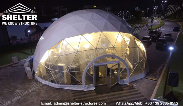 festival dome Marquee for outdoor mini recital concert - 15m half clear top Geodome tent with walkway Shelter Dome in Malaysia (5)