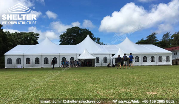 apse tent - temporary fabric structures solutions for wedding reception tents - corporation events and banquet & Multiflex Apse Tent - Temporary Hospitality Marquee Solution for ...