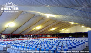 large white tent for groundbreaking celebration - corporate grand opening ceremony - Malaysia's East coast railway link (ECRL) construction tents for sale (1)