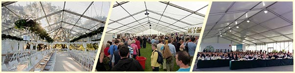 wedding reception tent marquee - party tetns hall - company conference and convention event tents