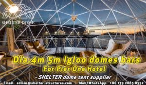 igloo bars---pop-up-dome-cafe---pop-up-themed-igloo-dome-coffee-shop-by-the-restaurant-or-hotel---Pier-one-hotel-by-the-Sydney-harbour---patio-dome-seats-33