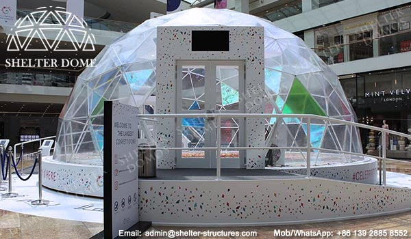 Dia 12m Geodome Tent Designed For Confetti Event In Qatar