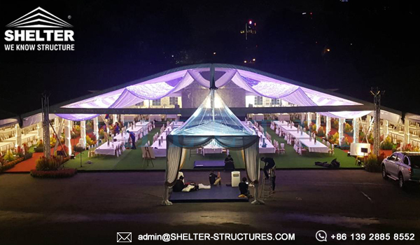 marquees sale - a frame tent for wedding reception - outdoor garden wedding tents - temporary banquet and catering hall for sale - clear event dome for sale (3)