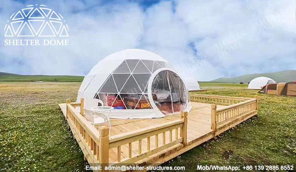 Eco Living Dome with Viewing Deck - Glamping Resort Dome