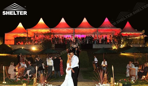 small tent - High peak Gazebo canopy - wedding reception - destination wedding - hotel wedding ceremony - Shelter aluminum structures for slae (33)