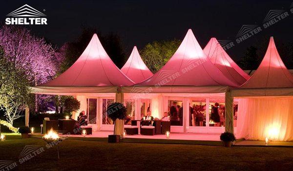 small tent - High peak Gazebo canopy - wedding reception - destination wedding - hotel wedding ceremony - Shelter aluminum structures for slae (40)