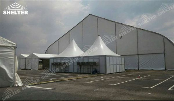 trade show structure - TFS hangar - hangars for aircraft - canopy for airliner maintanence - concert pavilion - heart shape marquee - parking shed for private jet, helicopter(17)