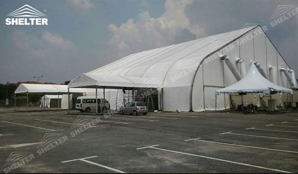 trade show structure - TFS hangar - hangars for aircraft - canopy for airliner maintanence - concert pavilion - heart shape marquee - parking shed for private jet, helicopter(24)