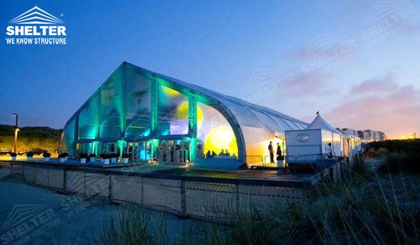 Outdoor Party Tents - TFS hangar - hangars for aircraft - canopy for airliner maintanence - concert pavilion - heart shape marquee - parking shed for private jet, helicopter(29)