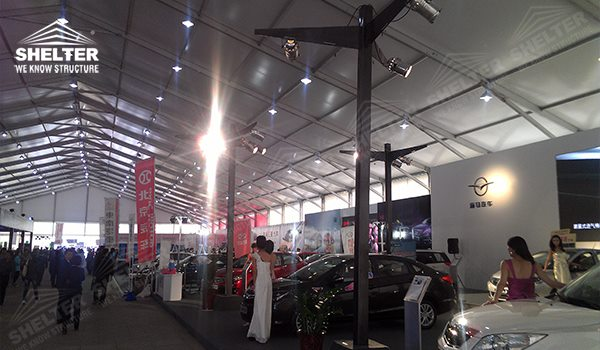 Commercial Tent - auto exhibition tents - car show exposition tent - Motorcycle Exhibition marquees - tents for internatinal expo - Shelter exhibition canopy for sales in California 11201_Jc