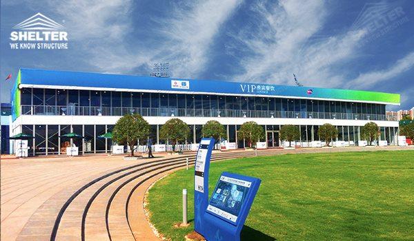2014 WTA Wuhan Opan - double decker tents - two floor marquee - double floor canopy - double deck or two deck pavilions (4xzcvz)