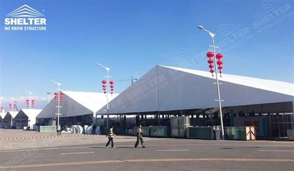 exhibition structure - marquee for large scale exhibitions - tent canopy for expositions - trade show tents - canvas for fair - Shelter aluminum structures for sale (108)