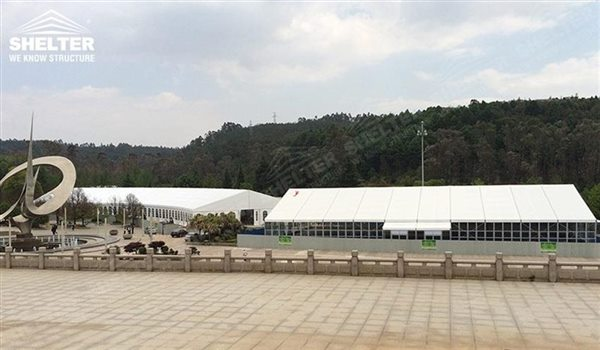 Tent sheds - marquee for large scale exhibitions - tent canopy for expositions - trade show tents - canvas for fair - Shelter aluminum structures for sale (3)
