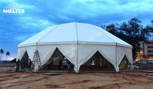 festival tent - mixed party tents - multi shapes marquee - bellend canvas - large wedding marquees - 6 side bellend tent - 8 side bellend tents - 12 side bellend marquees - Shelter aluminum structures for sale (56)