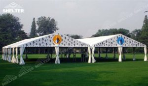 Event Marquee - small marquee - tents canopy for outdoor show - fashion show structure - pavilion for lawn party - shed for outdoor weddings - aluminum canvas for grass wedding ceremony (3)