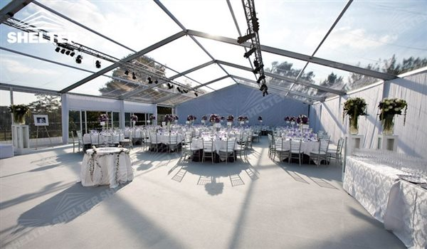 clear top - wedding marquee - pavilion for luxury wedding ceremony - canopy for outdoor party - wedding on seaside - in hotel - Shelter aluminum structures for sale (186)