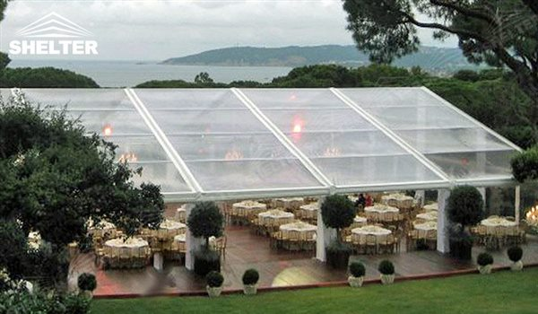 transparent tent - wedding marquee - pavilion for luxury wedding ceremony - canopy for outdoor party - wedding on seaside - in hotel - Shelter aluminum structures for sale (194)