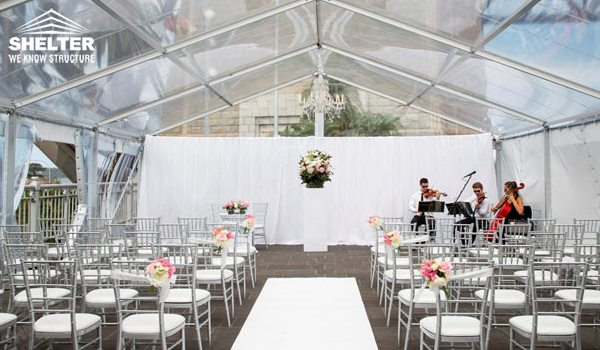 clear tent - clear top - wedding marquee - pavilion for luxury wedding ceremony - canopy for outdoor party - wedding on seaside - in hotel - Shelter aluminum structures for sale (295)